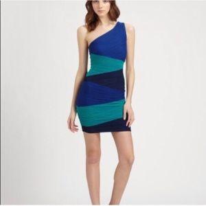 BCBG Kira one shoulder dress